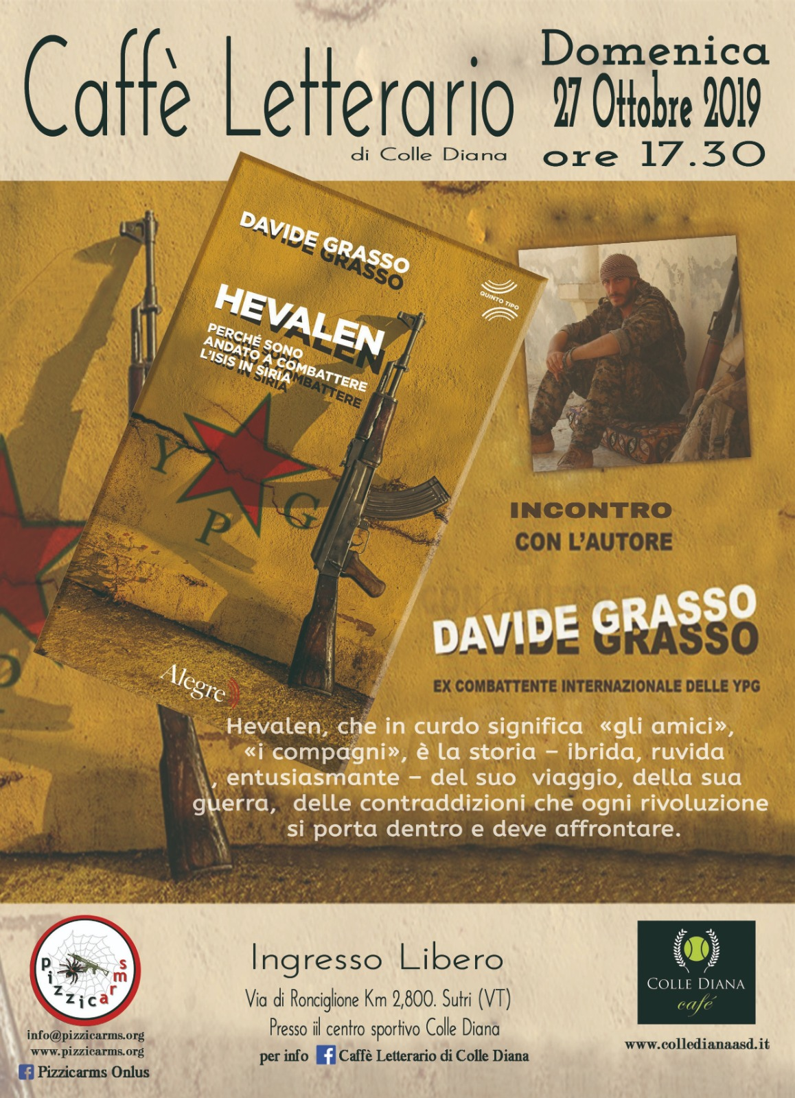 Caffè Letterario con Davide Grasso